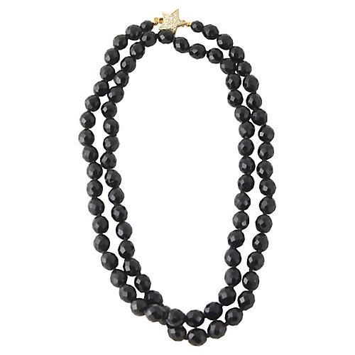 Carolee Star & Black Crystal Necklace