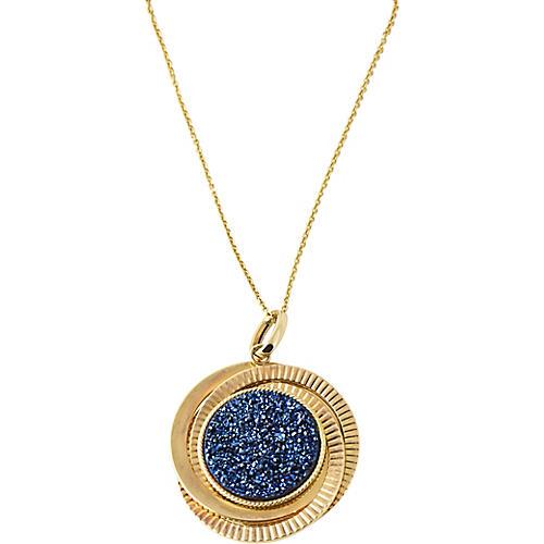 Modernist Labradorite & Gold Necklace