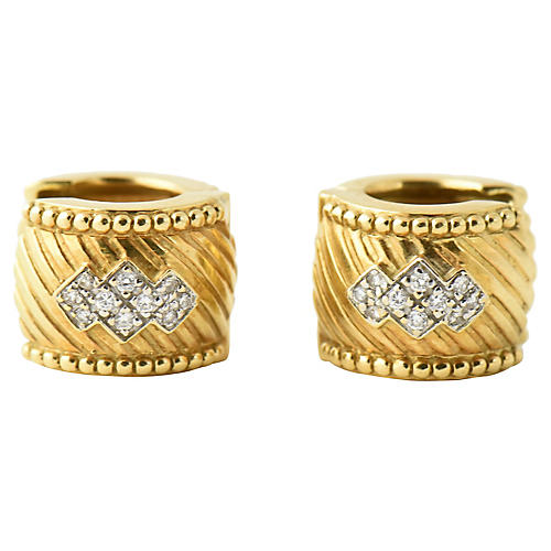 1980s Diamond & Gold Earrings