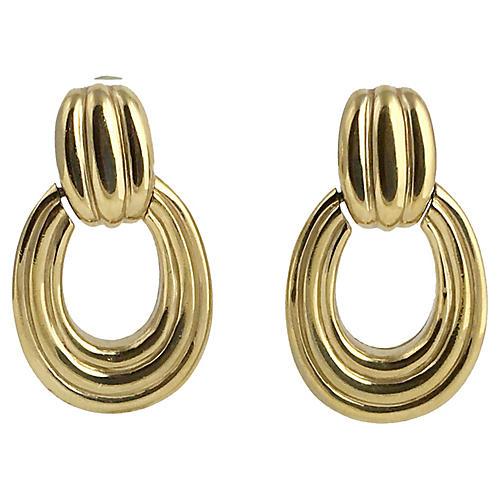 Ciner Door Knocker Earrings
