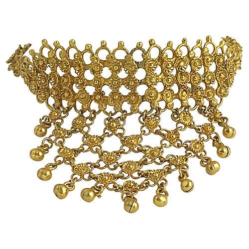 Etruscan Revival Goldtone Necklace