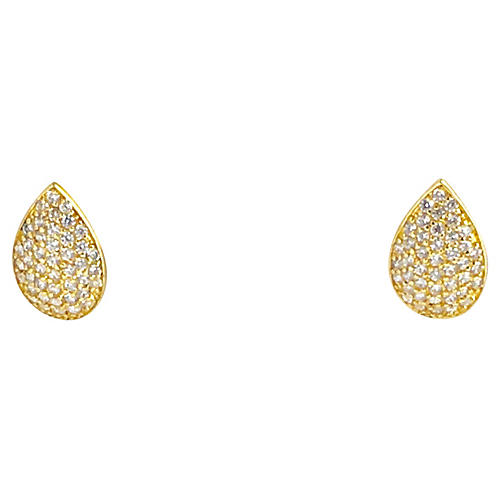 Gold-Plated Sterling Leaf Earrings