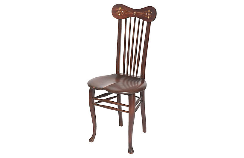Antique Mother-of-Pearl Inlay Chair