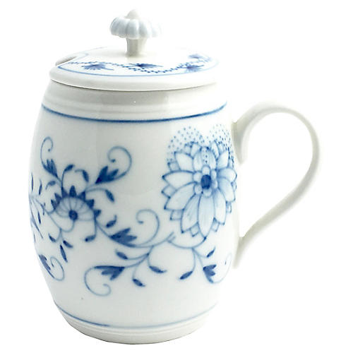 Meissen Blue Onion Condiment Jar