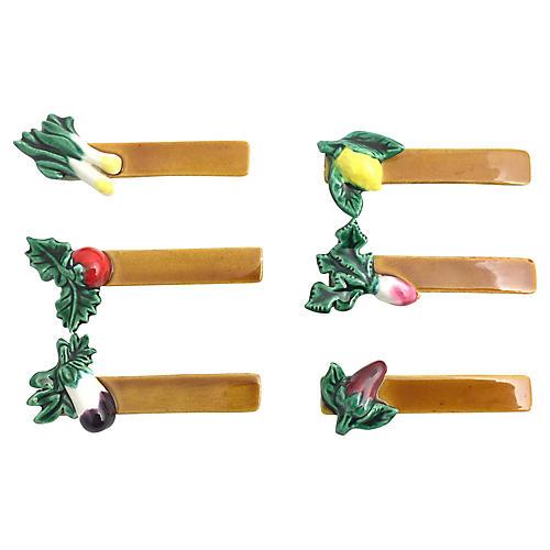 French Vegetable Knife Rests - Set of 6