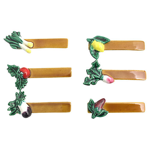 French Vegetable Knife Rests - Set of 6