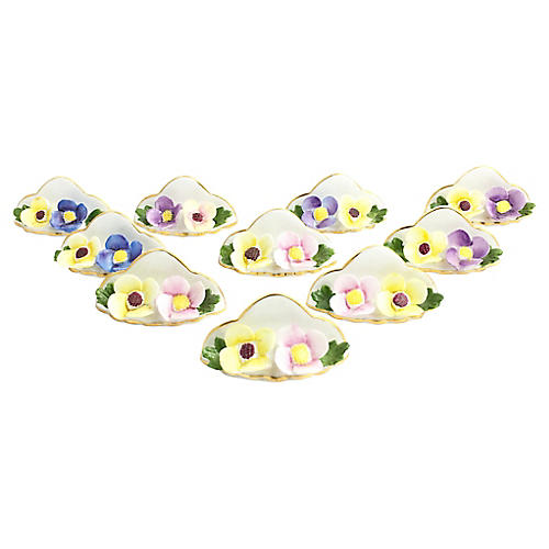 Floral Place-Card Holders, Set of 10