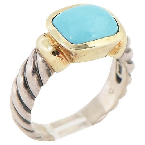 David Yurman Turquoise & Sterling Ring