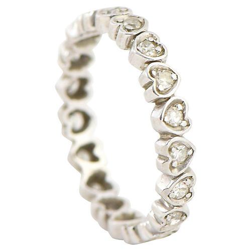 Diamond Heart Gold Eternity Band