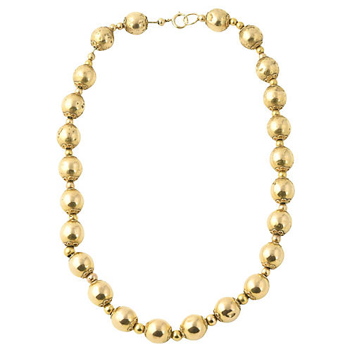 Victorian 14K Gold Ball Necklace
