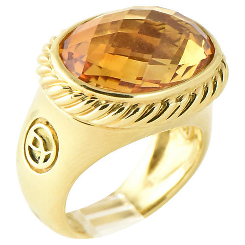 Yurman Gold & Citrine Signature Ring
