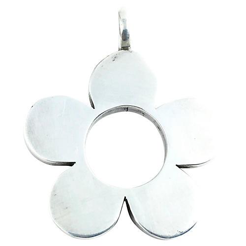 Modern Sterling Open Flower Pendant