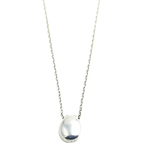 Puffy Sterling Pendant Necklace