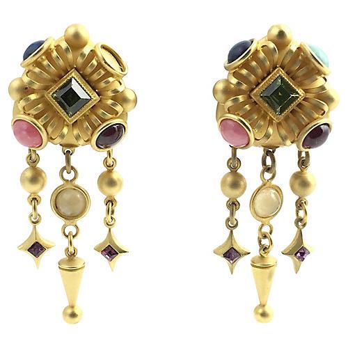 Natasha Stambouli Chandelier Earrings