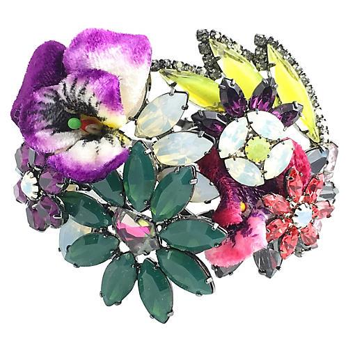 Floral Bangle Bracelet by Elizabeth Cole