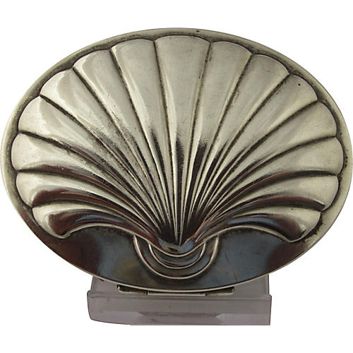 Majestic Sterling Shell Compact