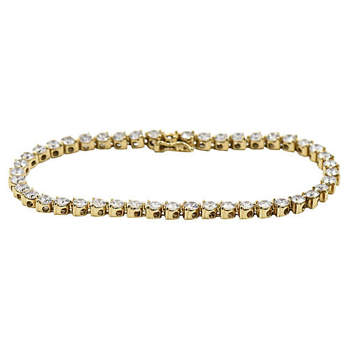 14K Gold & CZ Tennis Bracelet