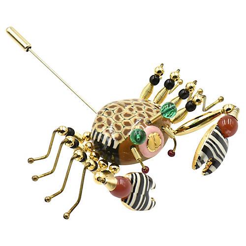 Crab Crawler Brooch by Jewelry 10