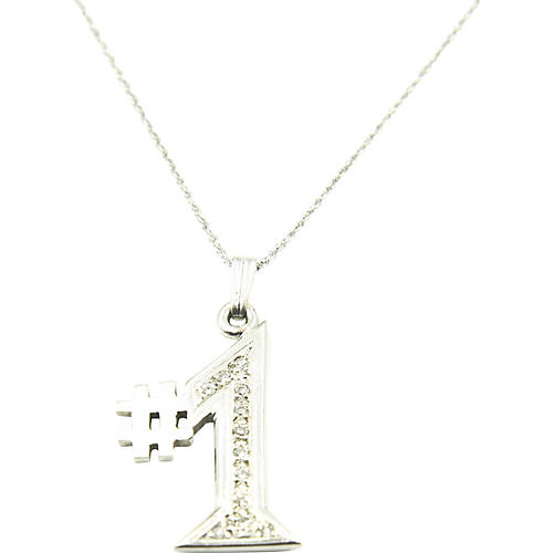 Diamond & 14K White Gold #1 Necklace