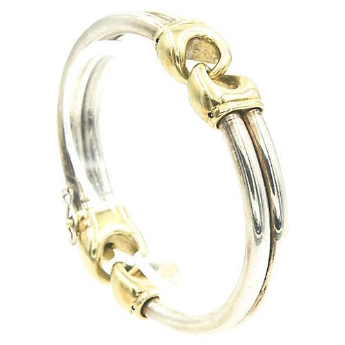 Italian Sterling & Gold-Plated Bracelet