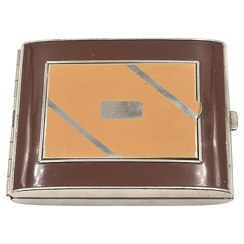 Deco Enamel Compact Cigarette Case