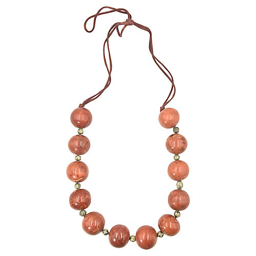 Fossilized Coral Bead Necklace