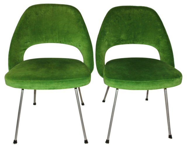 Saarinen Executive Side Chairs, Pair