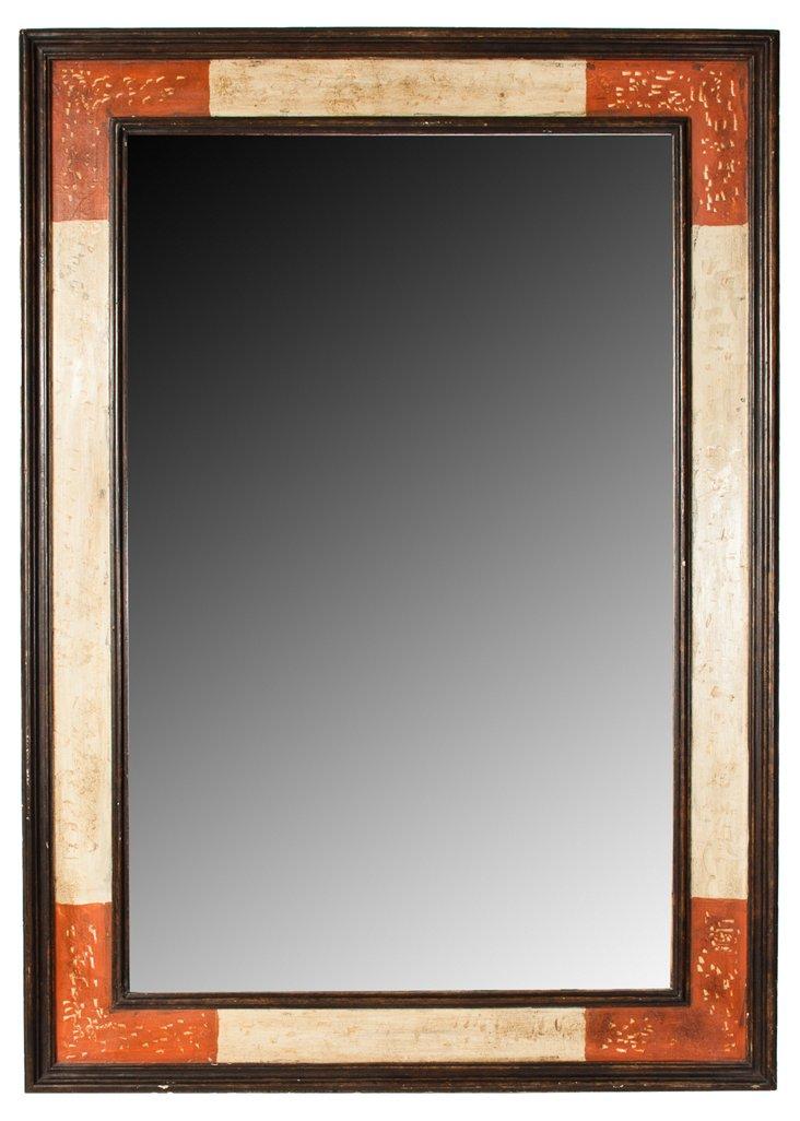Italian Hand-Painted Mirror