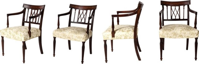Regency-Style Chairs, Set of 4
