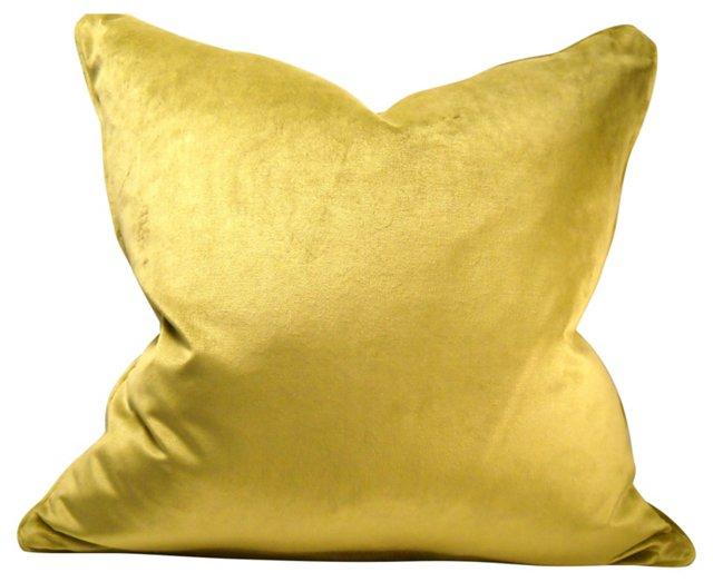 Chartreuse Velvet Pillow