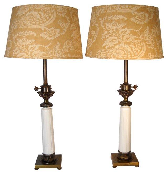 Midcentury Stiffel Lamps, Pair