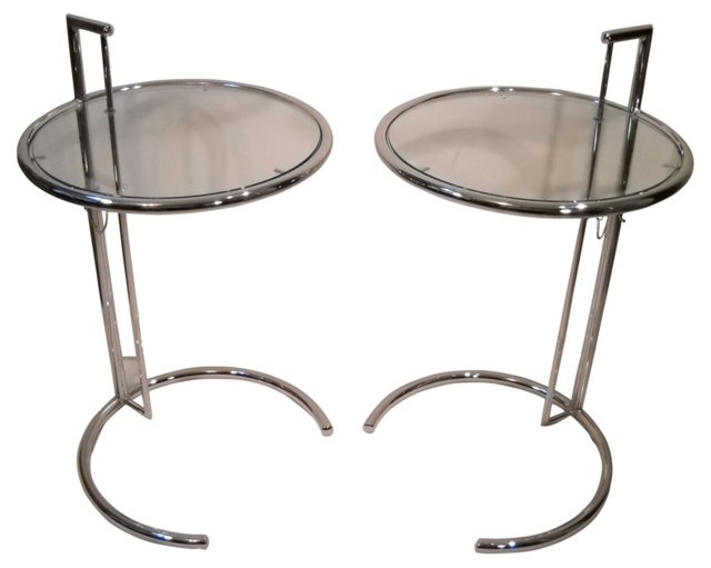 1970s Eileen Gray-Style Tables, Pair