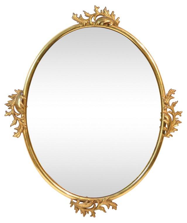 Metal Acanthus Leaf Mirror