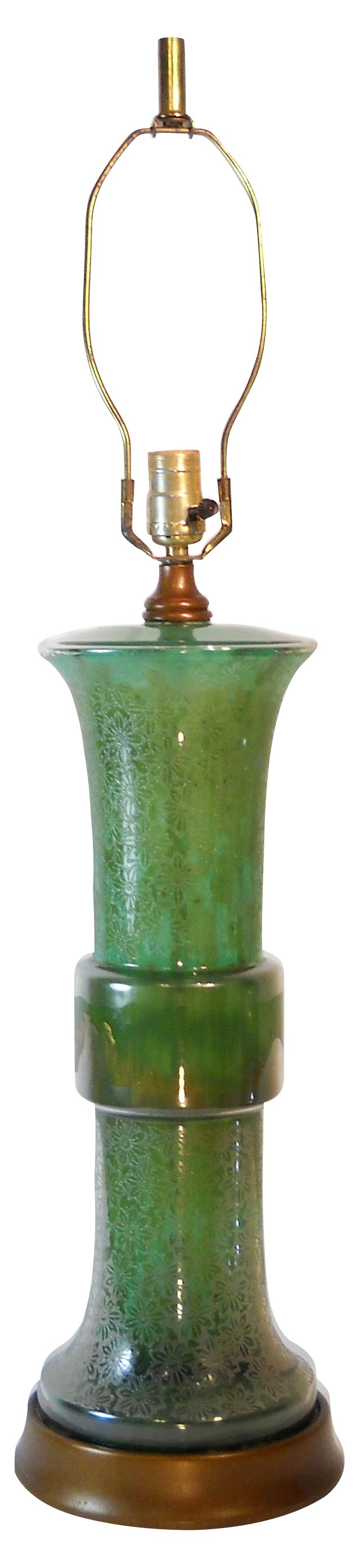 Midcentury Frederick Cooper Glass Lamp