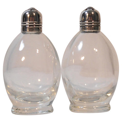 Sterling Capped Salt & Pepper Shakers