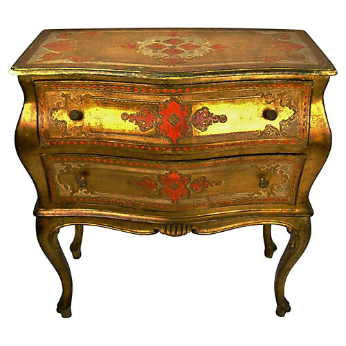 Venetian 2-Drawer Serpentine Commode