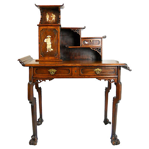 19th-C. French Japonisme Desk