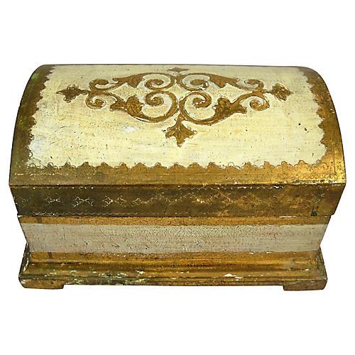 Large Florentine Domed Gilt Box