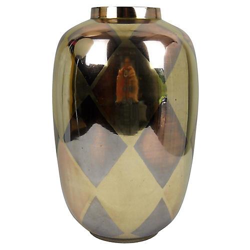 Brass Harlequin Vase