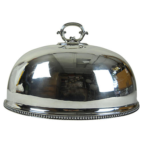 English Silver-Plate Serving Dome