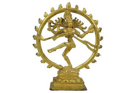 Metal Gilt Shiva Figure
