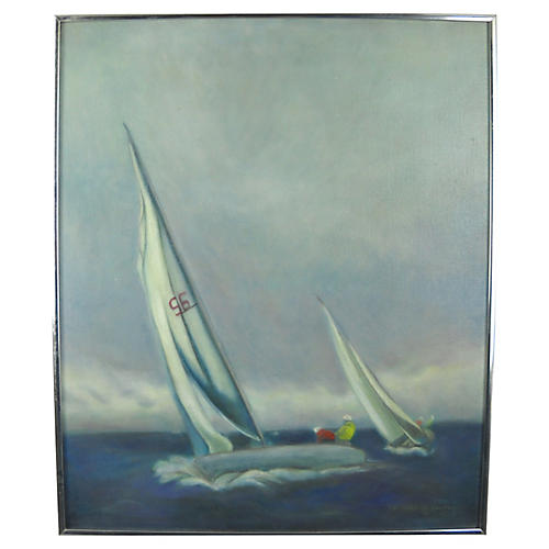 Stormy Regatta, Oil on Canvas