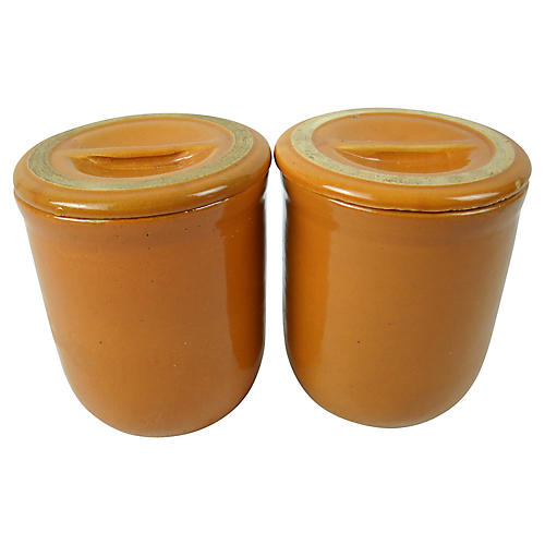 Earthenware Pâté Terrines, Pair