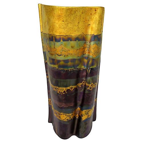 Rosenthal Metallic Glaze Porcelain Vase