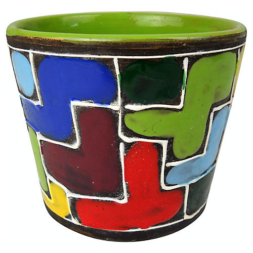 Italian Color-Block Planter