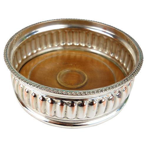 Silver-Plate Wine Coaster