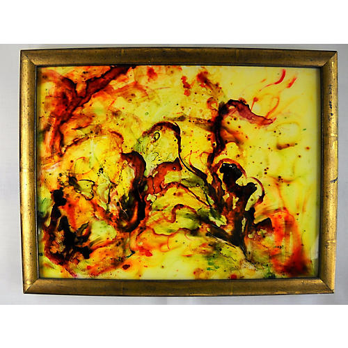 Abstract Verre Églomisé Painting