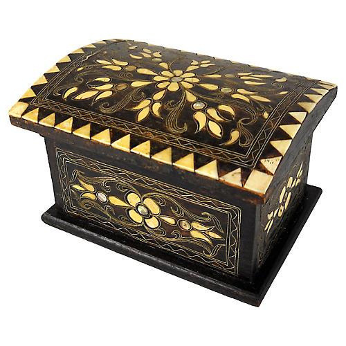 Wood & Bone Folk Art Box