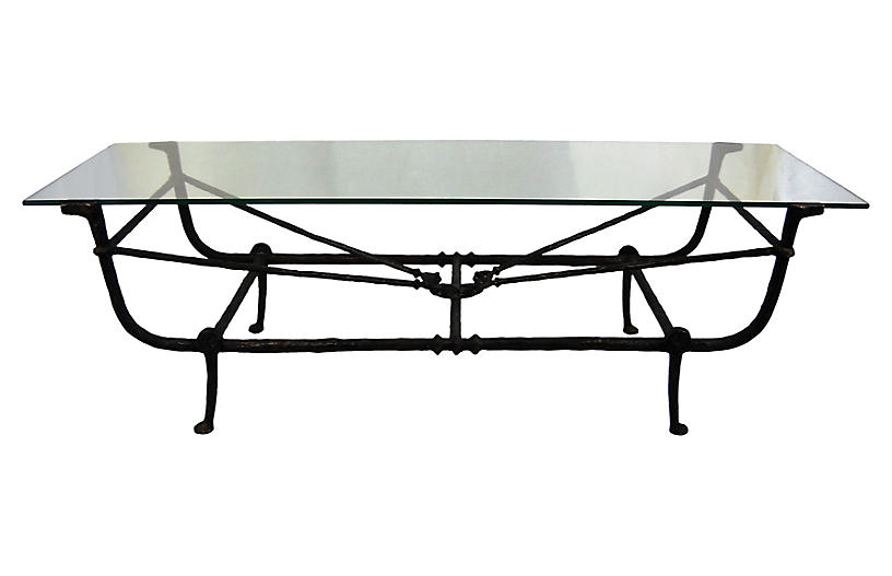 Chodoff Giacometti Bronze Coffee Table