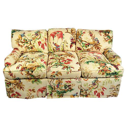 Chinoiserie Toile Sofa